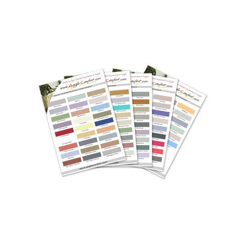 Nuancier chantillons peinture l 39 argile 165 couleurs teintes r elles for Peinture argile nuancier