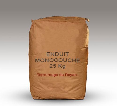 Sac enduit argile monocouche 25 Kg